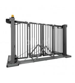 brama składana dwuskrzydłowa mobilna traffic ral7016