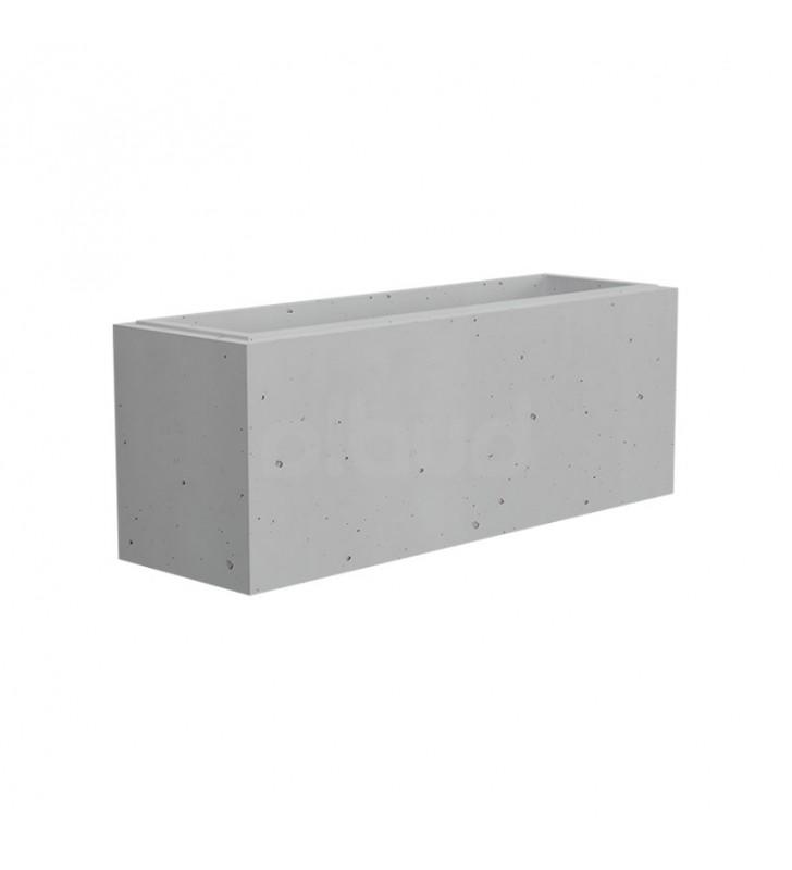 bloczek ogrodzeniowy gładki gaag vide 800x250x300 mm biały