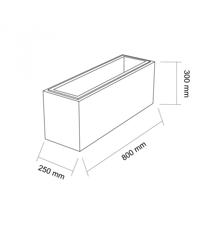 szkic bloczek gaag vide 800x250x300 mm