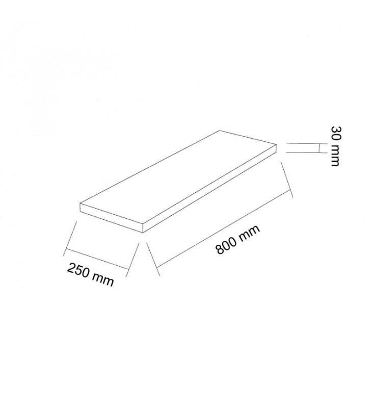 szkic daszek gaag vide 800x250x30 mm