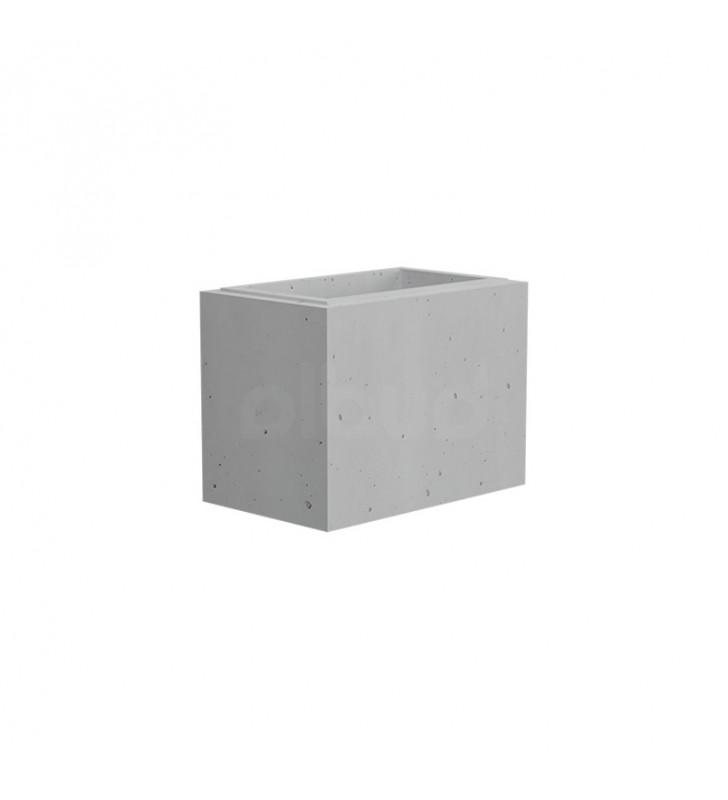 bloczek ogrodzeniowy gładki gaag vide 400x250x300 mm biały