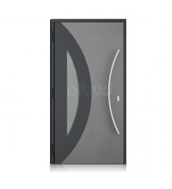 nowoczesne drzwi grafitowe z przeszkleniem nova
