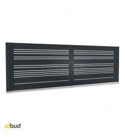 brama-skrzydlowa-nowoczesna-aluminiowa-poziome-lamele-alfen-N06-grafit-4000x1500mm