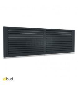 brama-skrzydlowa-aluminiowa-alfen-zaluzja-N01-nowoczesna-grafit-4000x1500mm