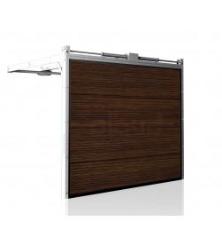 brama-segmentowa-wisniowski-unipro-ciemny-dab-automatyczna-przetloczenia-gladkie-40mm-panel