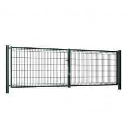 brama-skrzydlowa-panelowa-3d-wisniowski-fi5-modest-4000x1230mm-ral6005