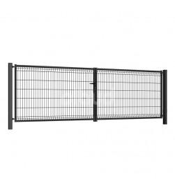 brama-skrzydlowa-panelowa-3d-wisniowski-fi5-modest-4000x1230mm-ral7016