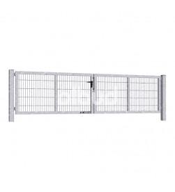 brama-skrzydlowa-panelowa-2d-wisniowski-gardia-4000x1000mm-ocynk