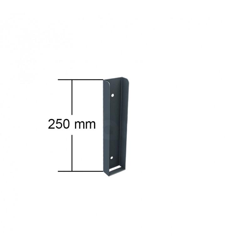 ceownik montażowy podmurówki 250 mm wysokość grafitowy ral7016