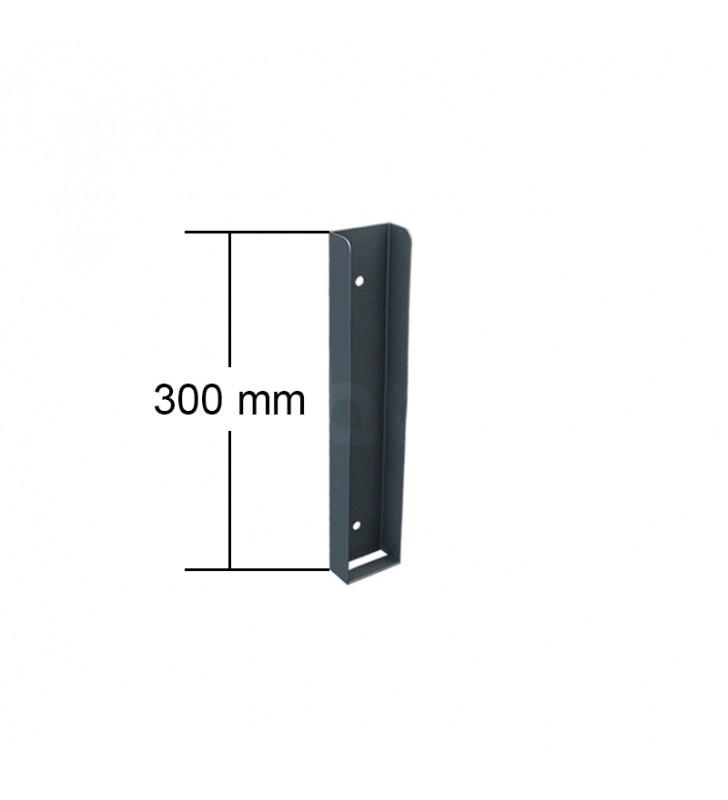 ceownik montażowy podmurówki 300 mm wysokość grafitowy ral7016