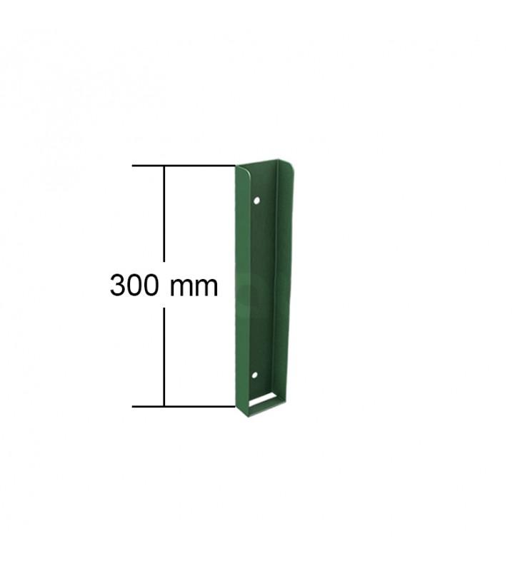 ceownik montażowy podmurówki 300 mm wysokość zielony ral6005