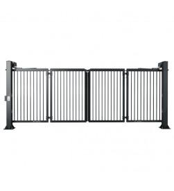 brama składana vking Wiśniowski grafitowa RAL 7016 zamknięta