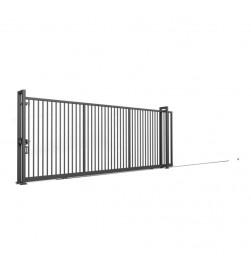 brama przesuwna na kołach WI Wiśniowski 5000 mm RAL7016