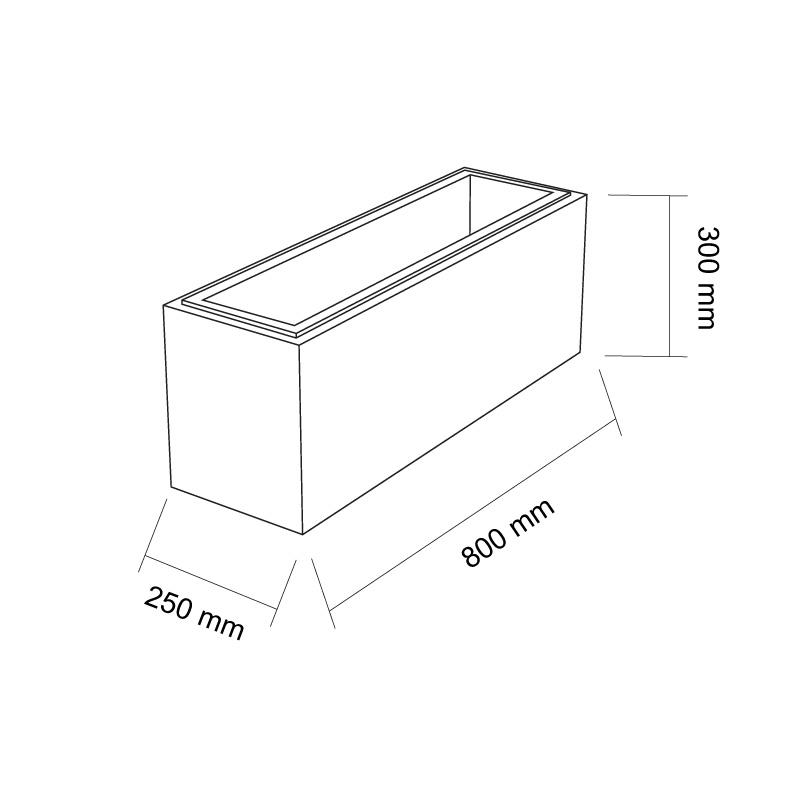 szkic bloczek gaag 800x250x300mm