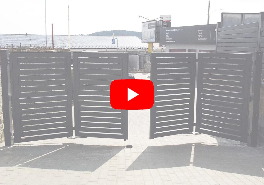 film z realizacji nowoczesnej bramy składanej kosnport