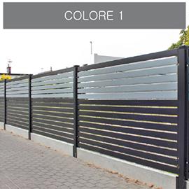 konsport colore 1 ogrodzenie poziome nowoczesne
