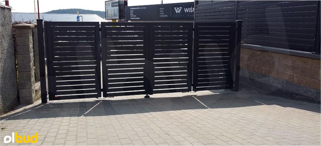 brama składana harmonijkowa