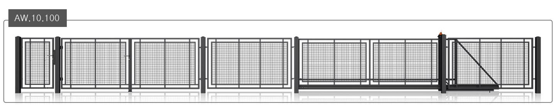 ogrodzenie wiśniowksi modern aw.10.100