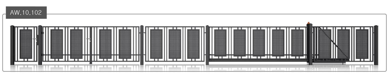 nowoczesne ogrodzenie wiśniowski modern aw.10.102