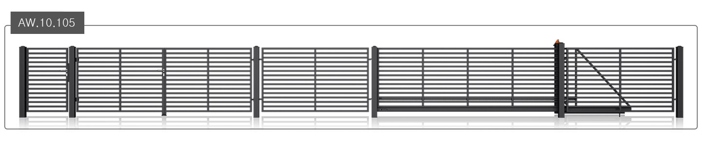 ogrodzenie modern aw.10.105