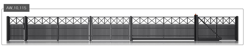 ogrodzenie modern aw.10.115