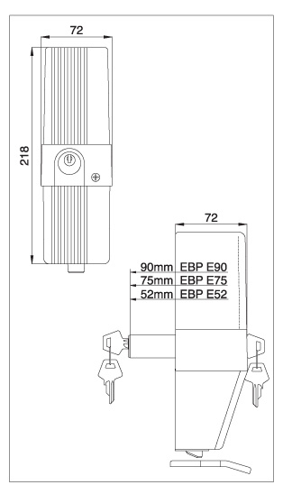 elektrozamek ebp 24V