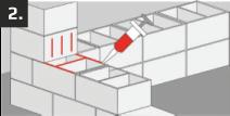 Nanieść klej na powierzchnie         które mają zostać złączone