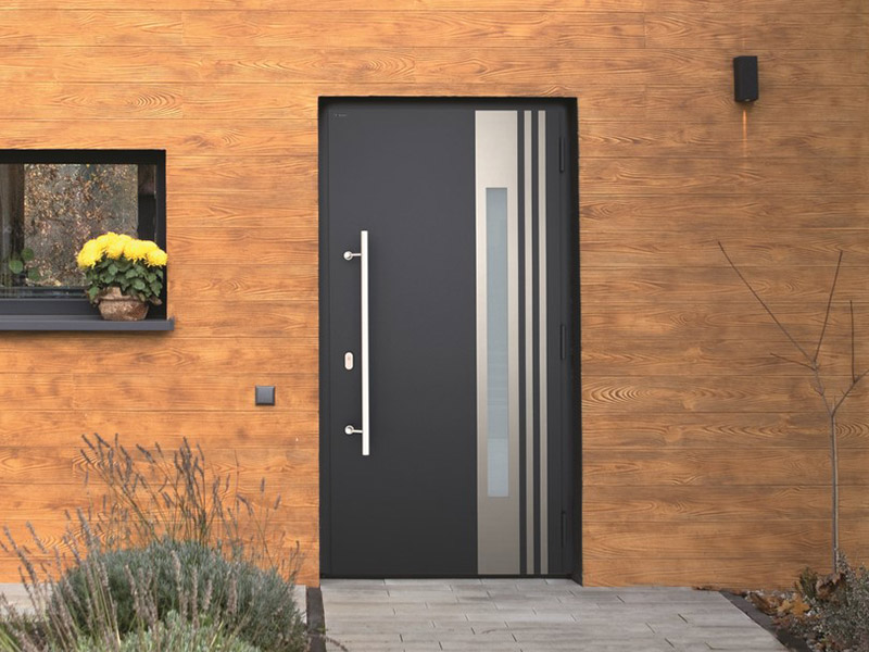 nowoczesne drzwi grafitowe nova wiśniowski