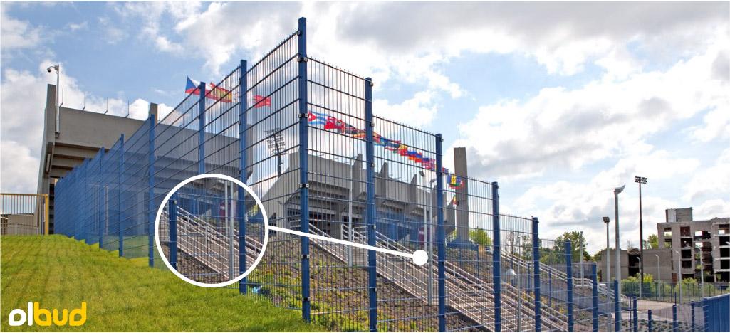 panele kratowe na ogrodzenie sportowe wiśniowski